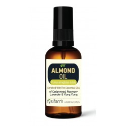 ALMOND OIL Enriched (Prunus amygdalus dulcis) ENRICHED with Cedar, Rosemary, lavender and Ylang Ylang